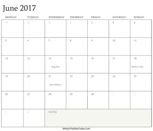 fillable june calendar 2017 whatisthedatetoday com